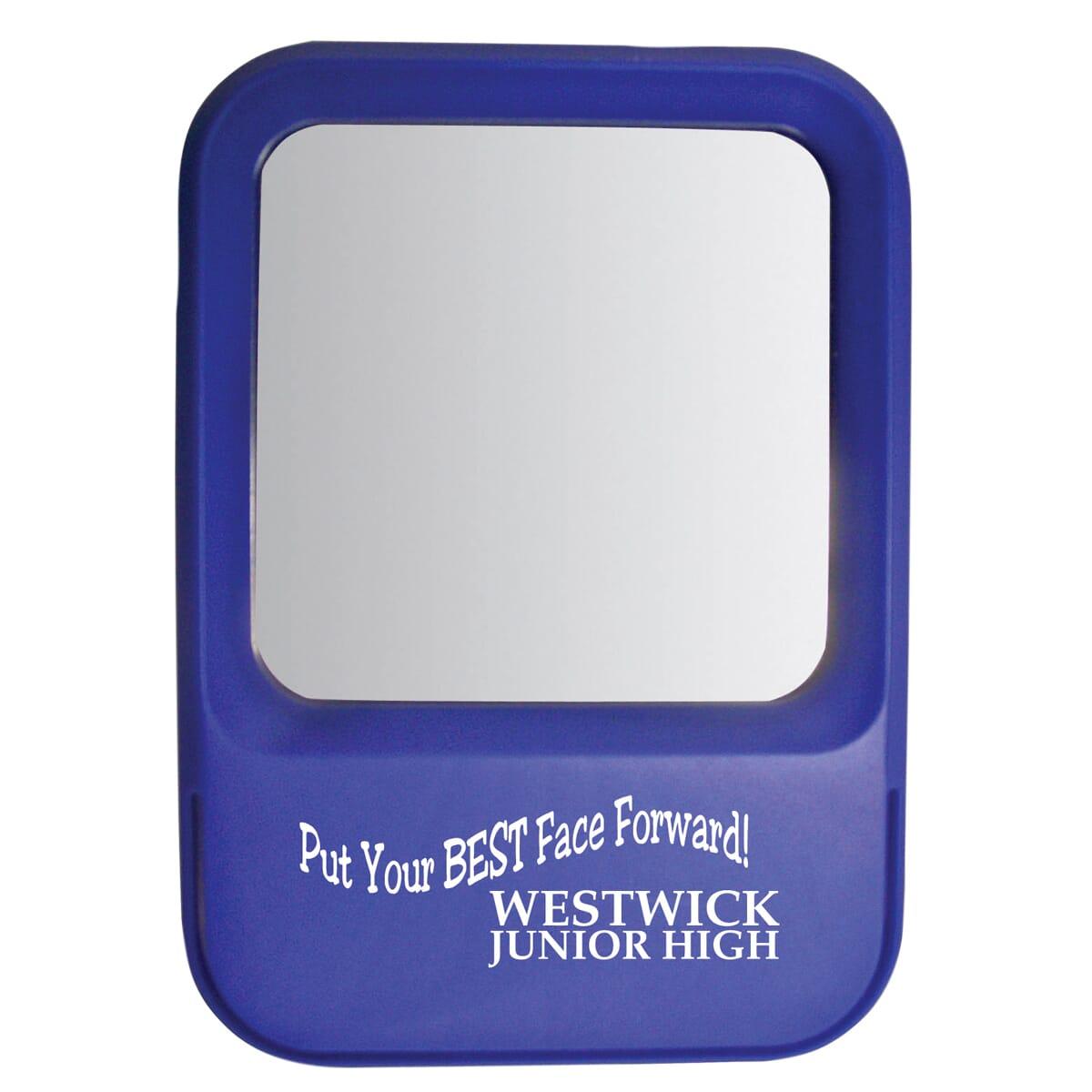 Blue locker mirror
