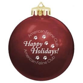 Holiday Ornaments with Custom Logo