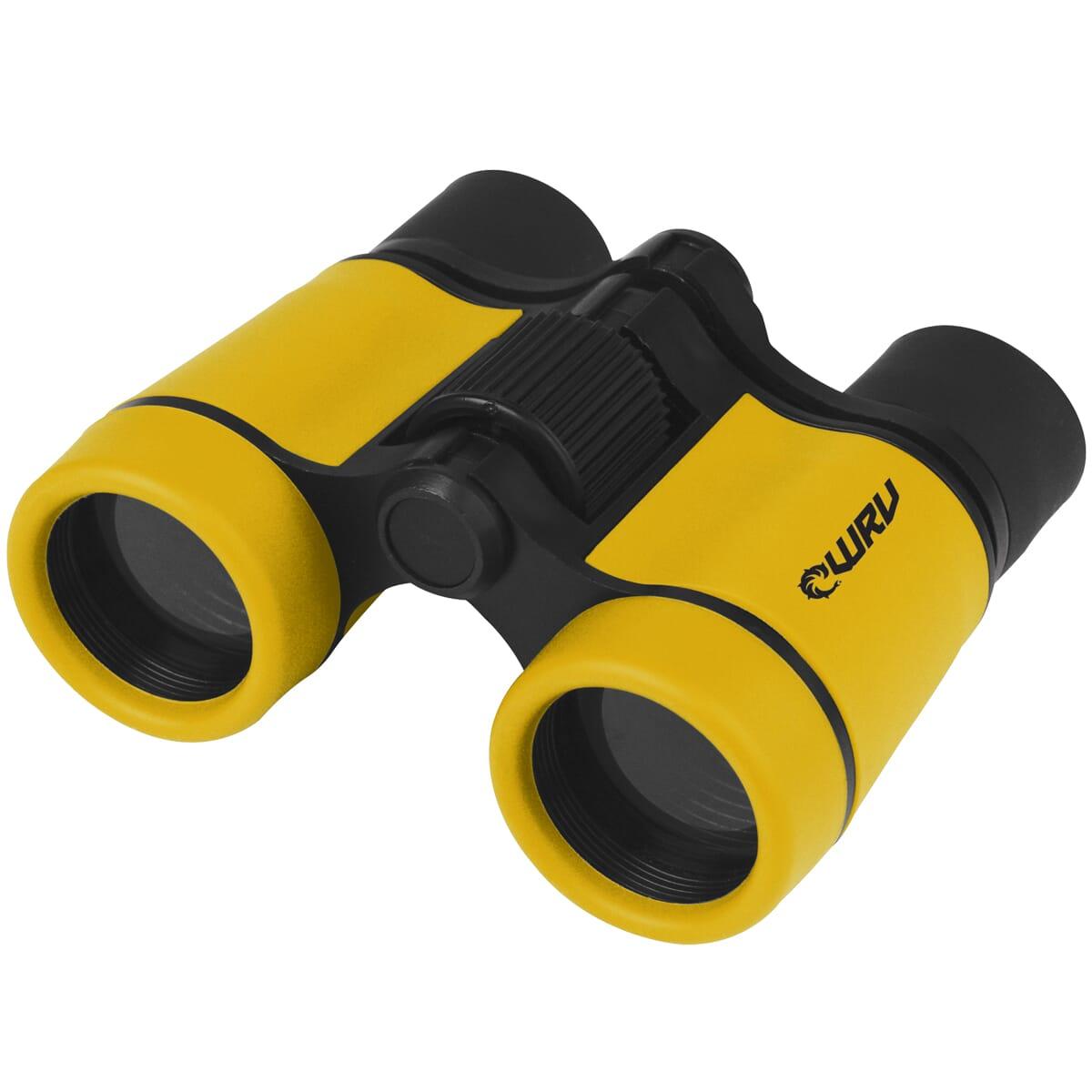 Black and yellow binoculars