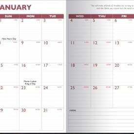 2020 13 Month Desk Planner