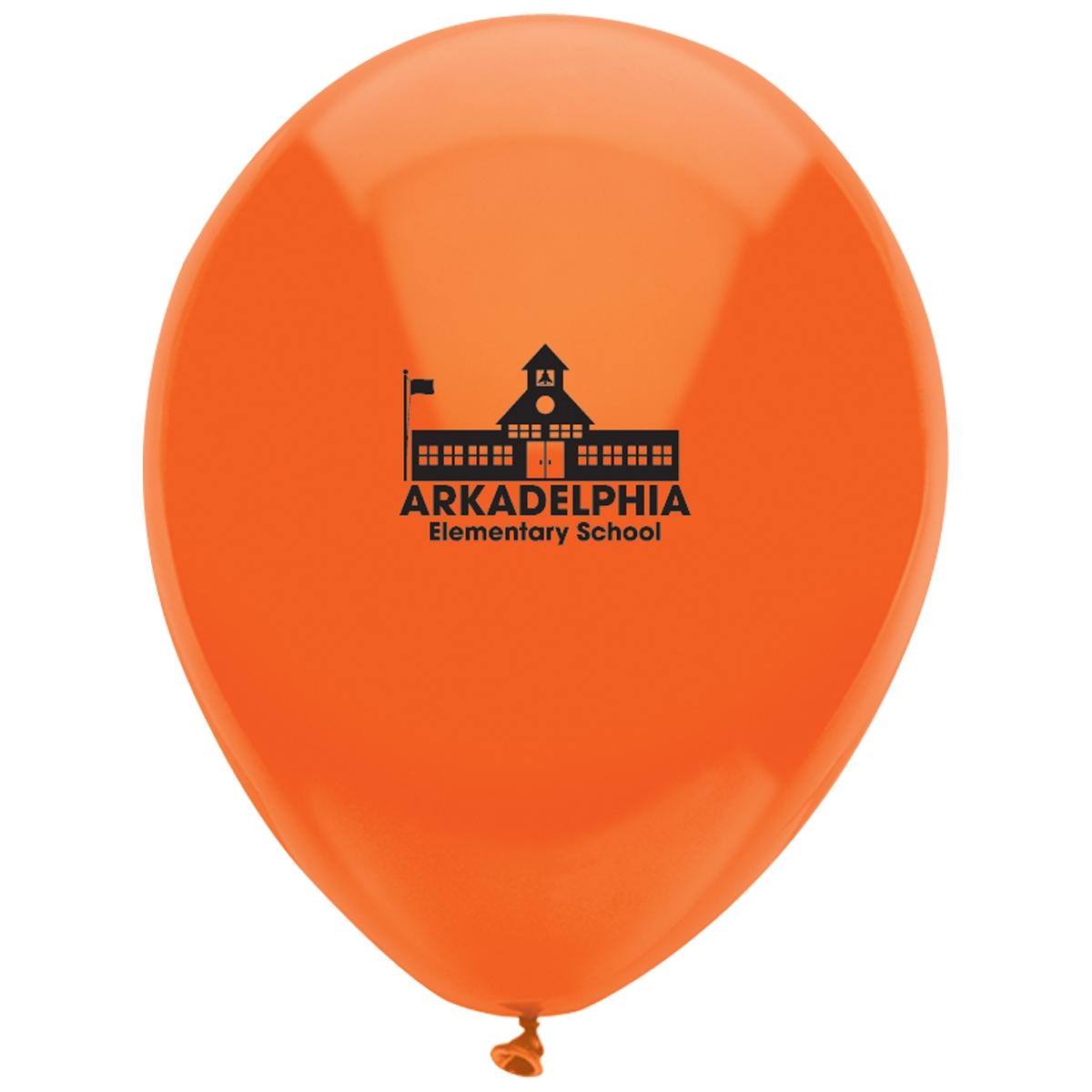 Custom Orange Balloon Halloween Decoration