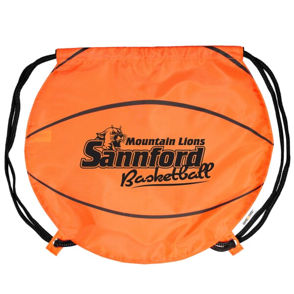Game Time!® Drawstring Backpack -Basketball