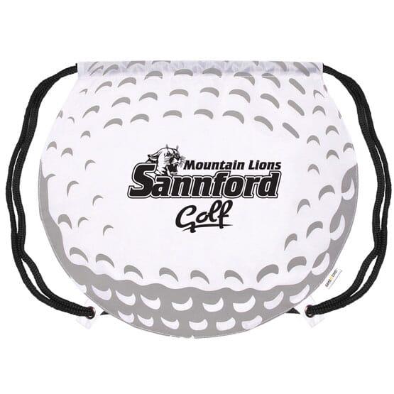 Game Time!® Drawstring Backpack - Golf Ball