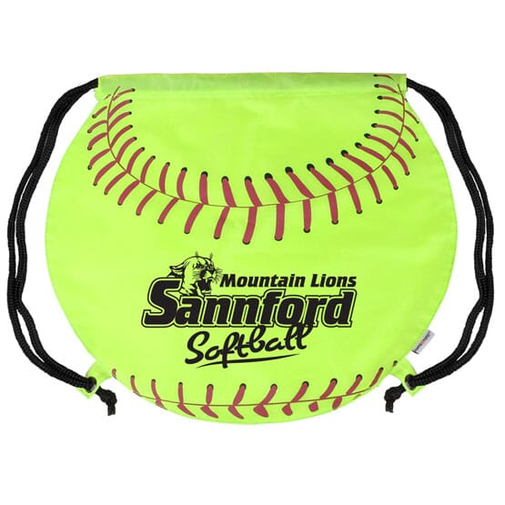 Game Time!® Drawstring Backpack -Softball