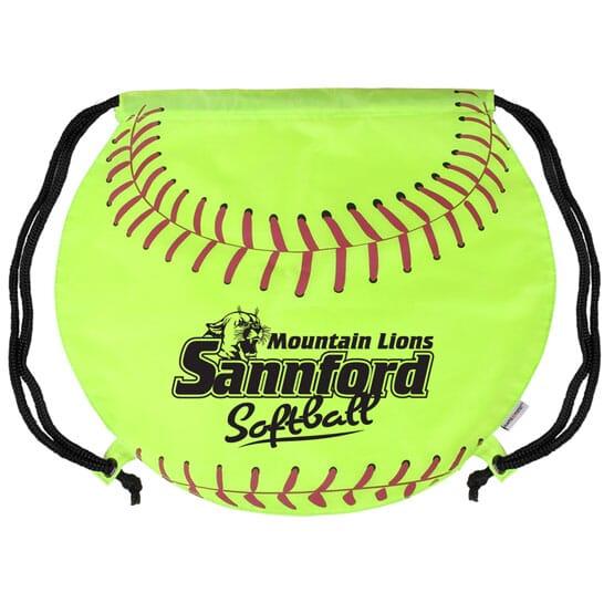 Game Time!® Drawstring Backpack -Softball