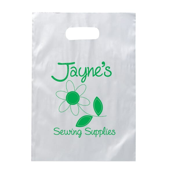 "9 1/2"" x 14"" Frosty Die Cut Bag"