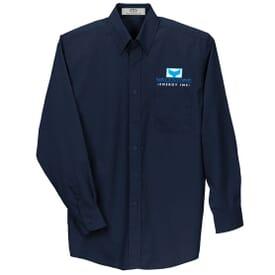 Blended L/S Poplin Shirt-Men's