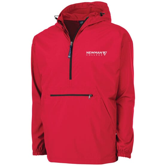 Travel pullover with corporate logo