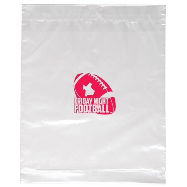 """12"""" x 15"""" x 3"""" Clear Plastic Bag Draw-Tape Handles"""
