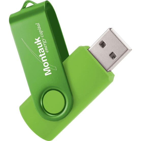 Two-Tone Fold-A-Flash USB Drive 1GB