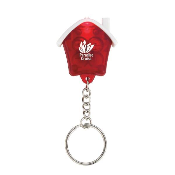 Mini House Flashlight Keychain