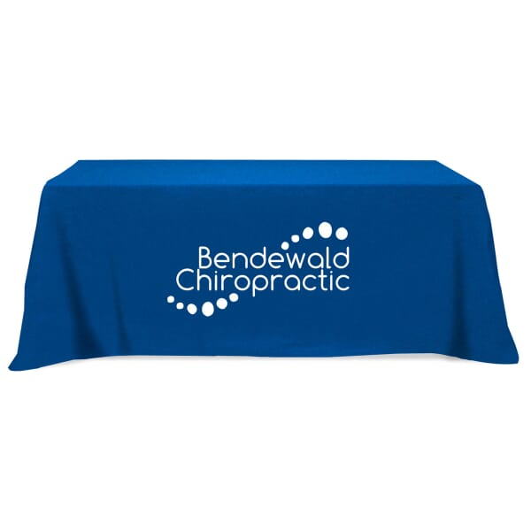 Flat 3-Sided Table Cover - Fits 8 ft Table