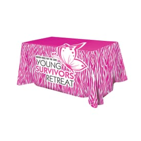 6' Flat Poly 3-Sided All Over Full Color Table Cover