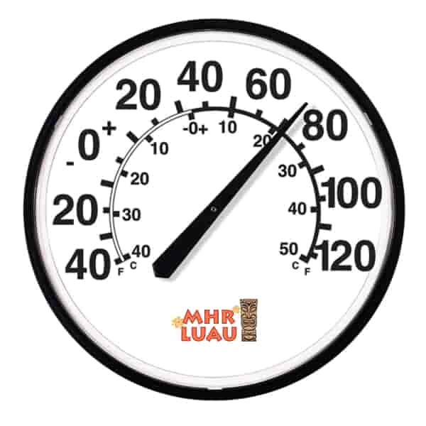 "12 3/4"" Dia. Thermometer"