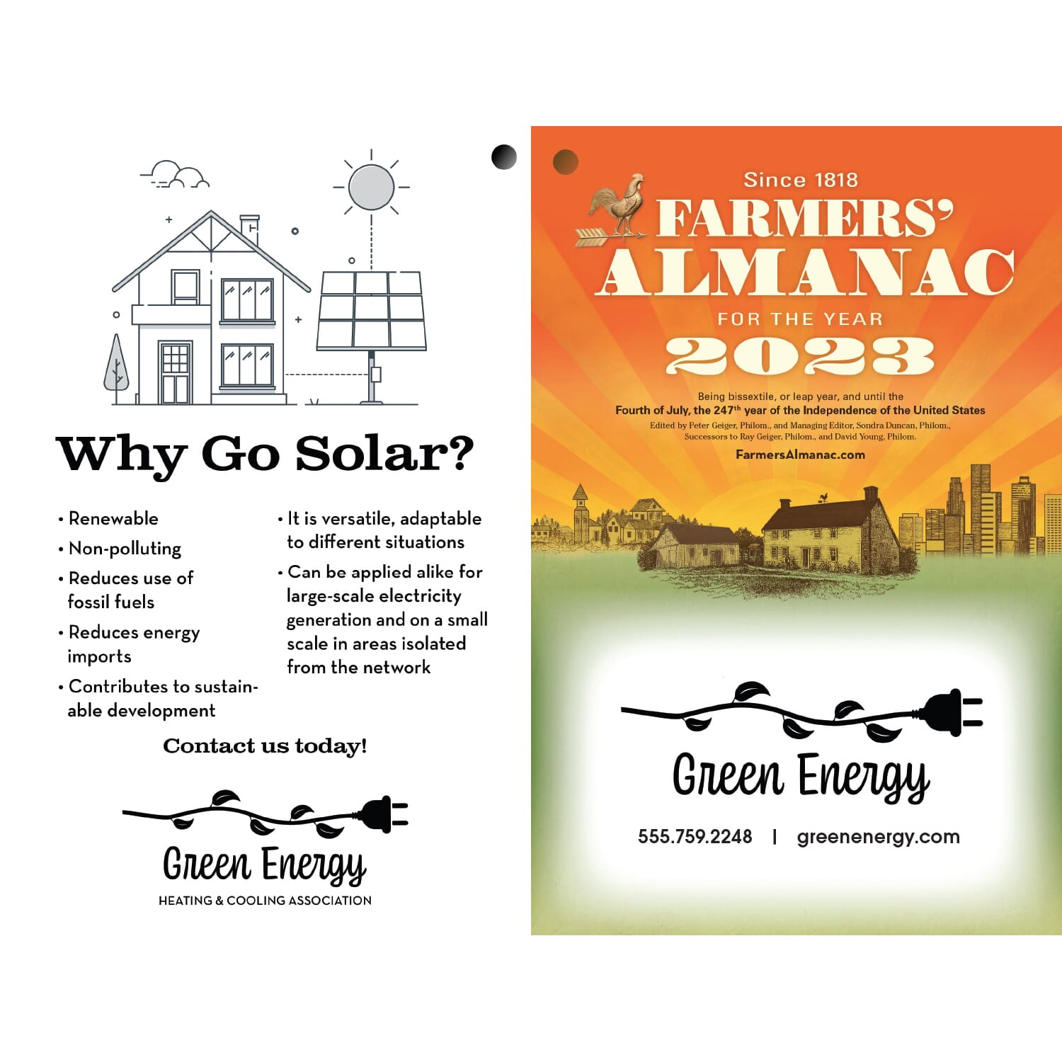 farmers almanac black and white cover imprint