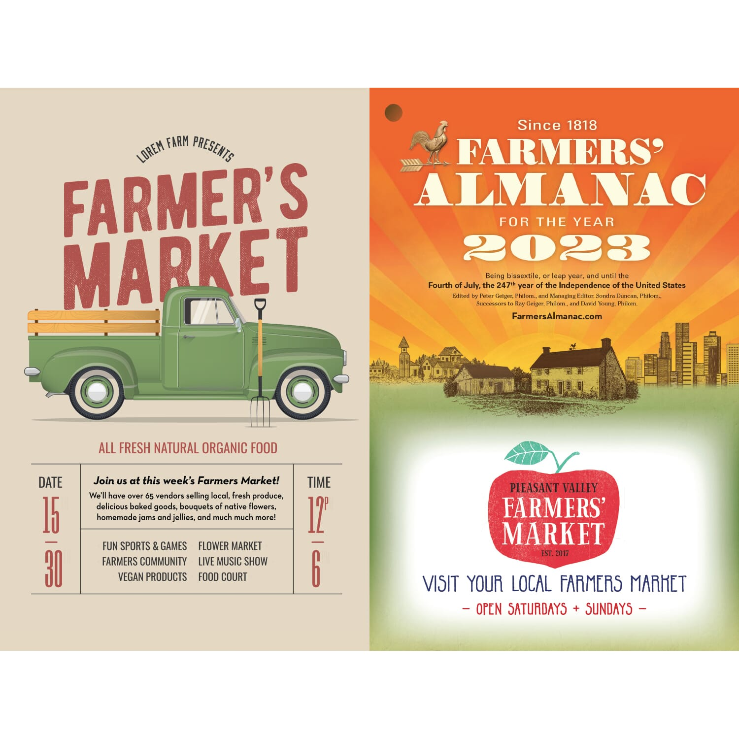 farmers almanac full color cover imprint
