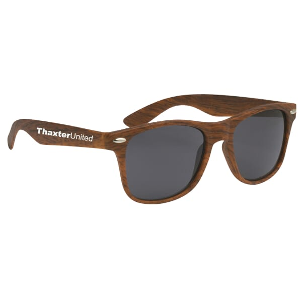 Cruise Retro Sunglasses - Woodgrain