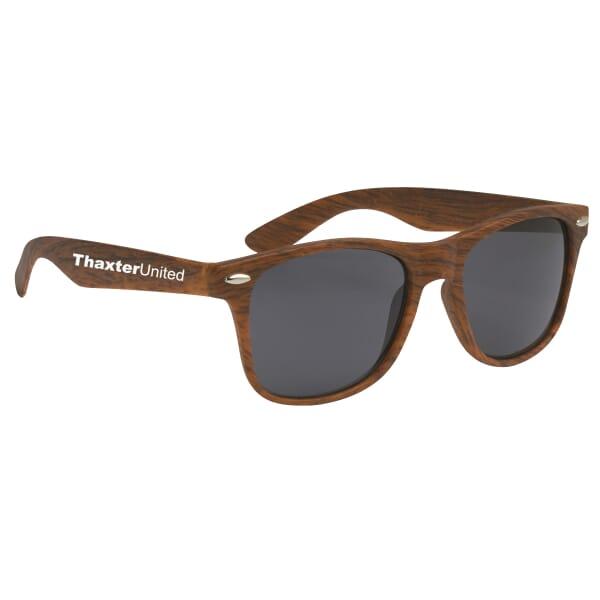Cruise Retro Sunglasses - Woodgrain