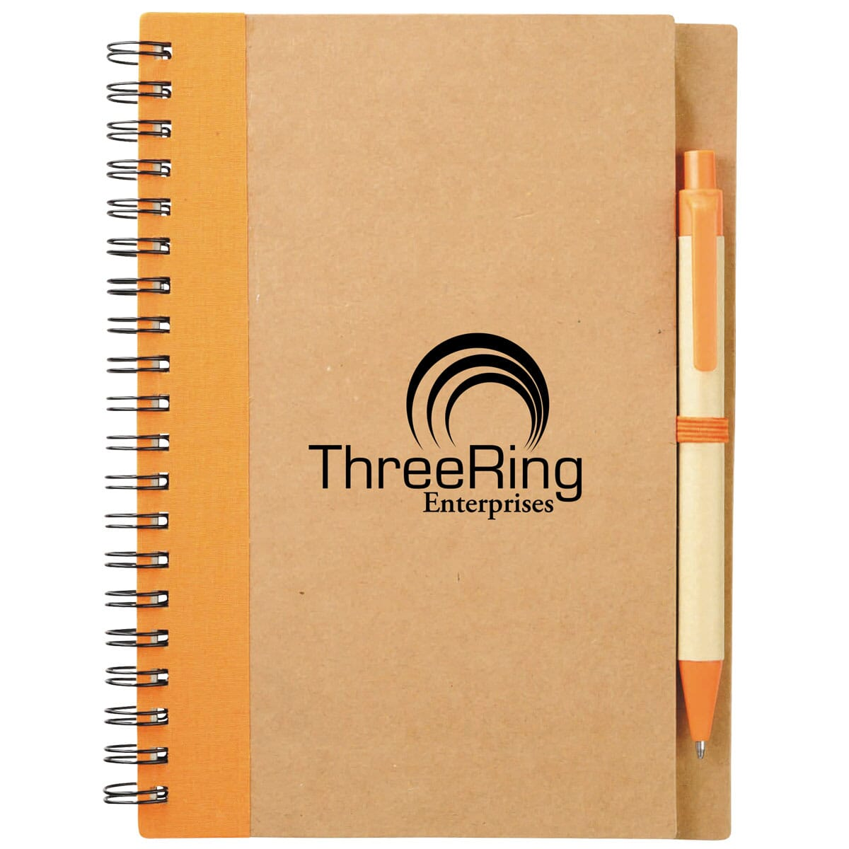 notebook and pen set made of recycled cardboard