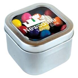 Square Candy Tin- Gumballs®
