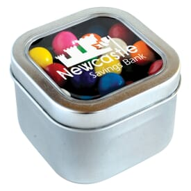 Square Candy Tin- Gumballs®