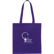 purple tote bag with 2 color imprint