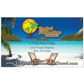 BIC® Jumbo Business Card Magnet 20 Mil