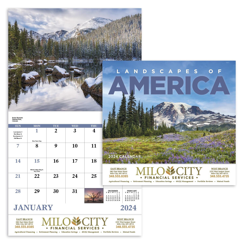 2021 landscapes of America calendar