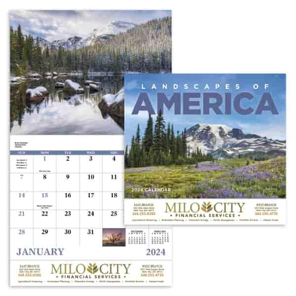 2022 Landscapes of America Calendar - Stapled