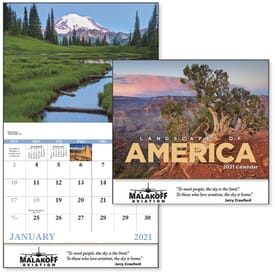 2021 Landscapes of America Calendar - Stapled