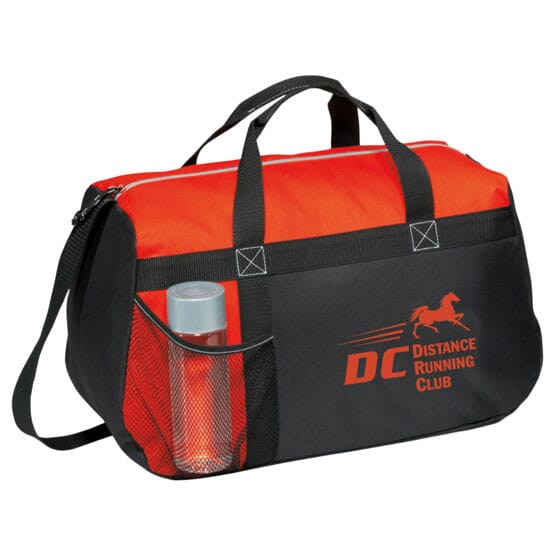 sport duffle bag with logo