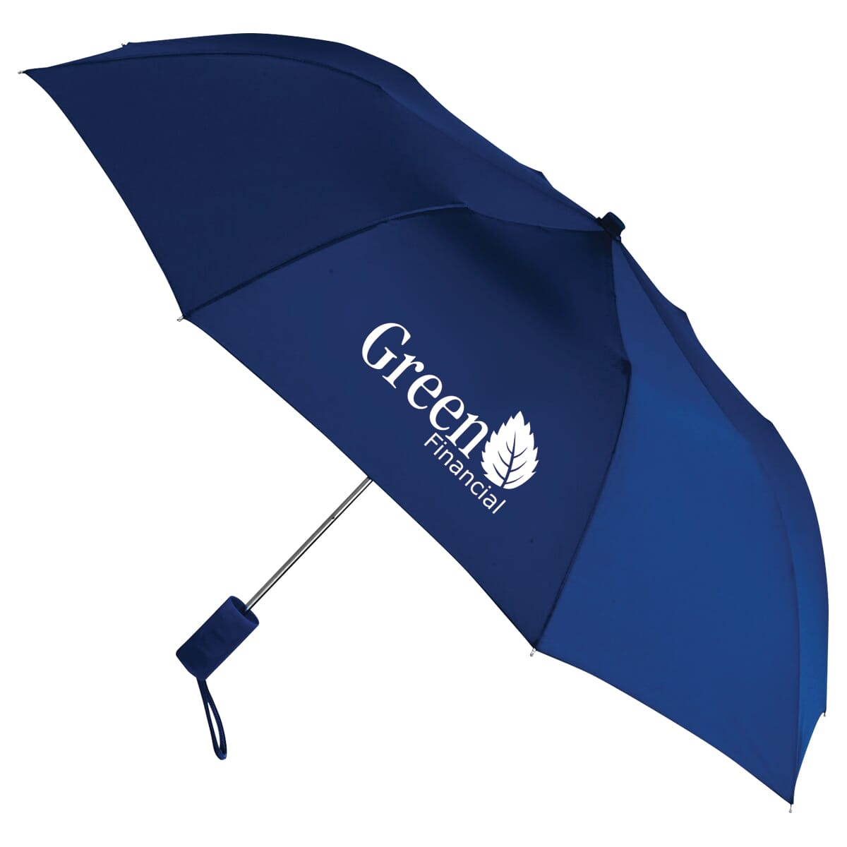 navy blue umbrella with logo