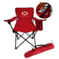 Chair front view with open cooler