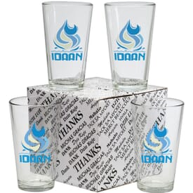 Pint Glass Thank You Set