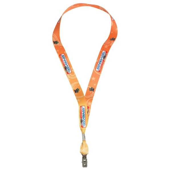 "3/4"" Full Color Satin Lanyard"