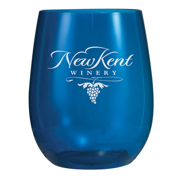 12 oz Plastic Vinello Stemless Wine Glass