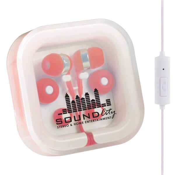 Color Pop Earbuds W/Microphone 111481