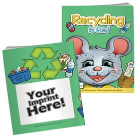 Recycling Is Fun Coloring Book With Mask
