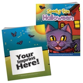 Spooky Fun Halloween Coloring Book With Mask