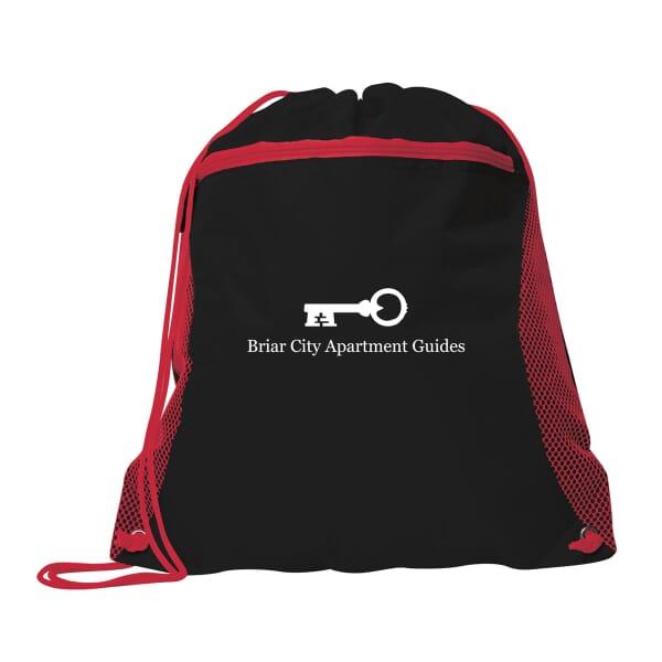 Dynamic Duo Drawstring Bag