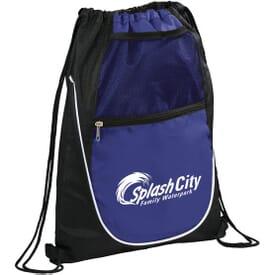 Multi-Pocket Drawstring Bag