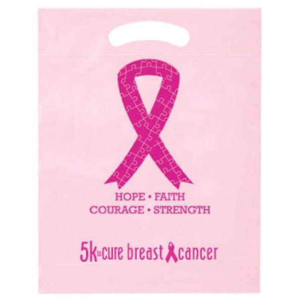 """12"""" x 15"""" Awareness Ribbon Plastic Bag"""