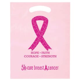 "12"" x 15"" Awareness Ribbon Plastic Bag"