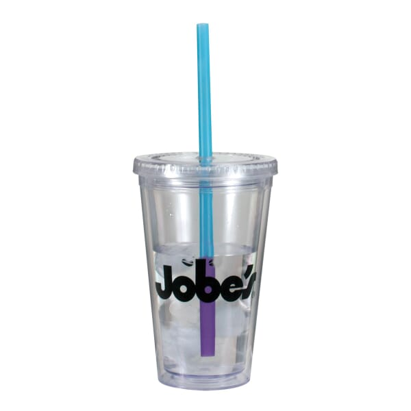 16 oz Evolve Tumbler W/ Mood Straw - One Color