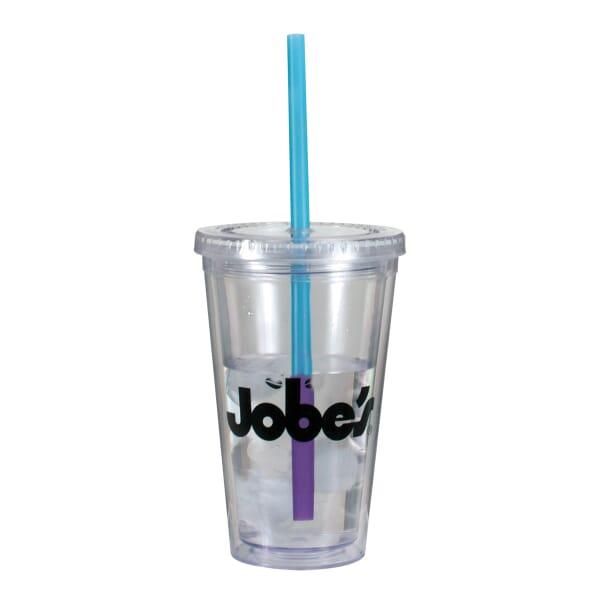 16 oz Evolve Tumbler W/ Mood Straw - One Color