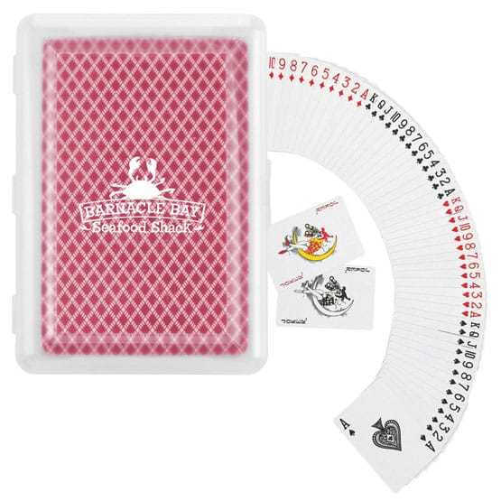Playing card deck with customized case