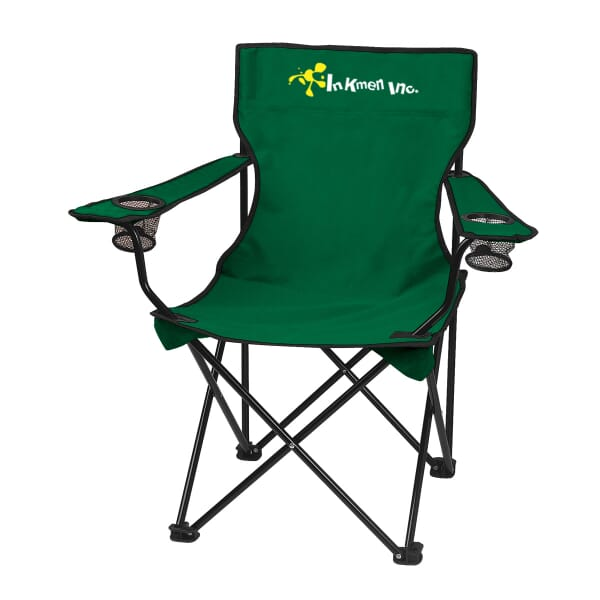 Terrific 24 Hunter Green Fold Up Chair W Bag 1 Color Imprint Ocoug Best Dining Table And Chair Ideas Images Ocougorg