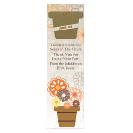 Growing Flower Pots Bookmark