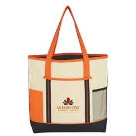 Tri Colored Tote Bag
