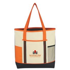 Tri Colored Tote Bag